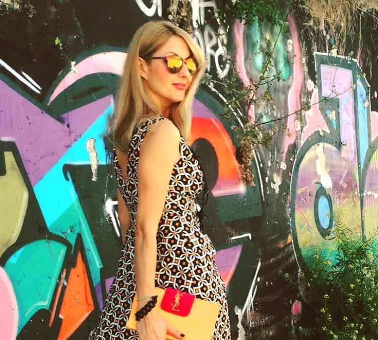 Φόρεμα Toi – Moi με γεωμετρικά μοτίβα